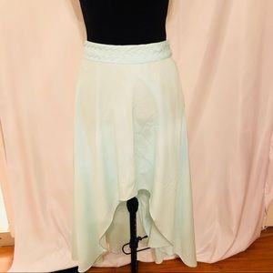 Ark & Co Skirt Small Green High Low Asymmetrical